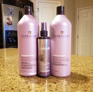 Pureology Hydrate Sheer Shampoo Conditioner Trio